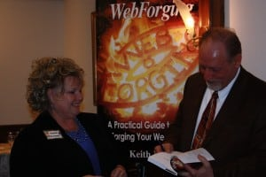 Sunni Boehme with Keith Klein at a Wisconsin Business Owners Lunch & Learn